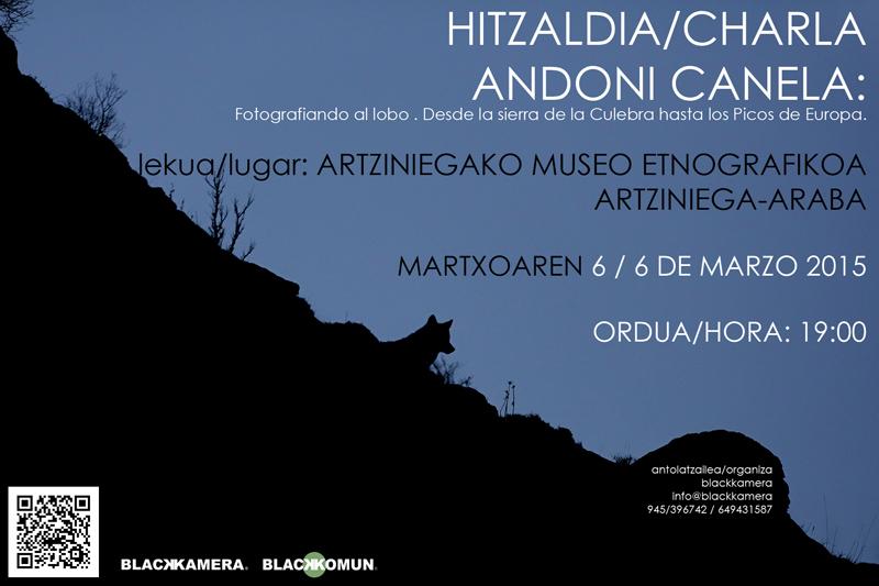 Hitzaldia/Charla de Andoni Canela en Artziniega