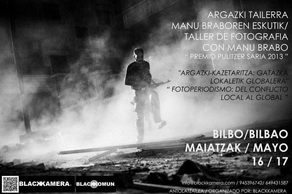 Taller de fotografía con Manu Brabo, Premio Pulitzer 2013
