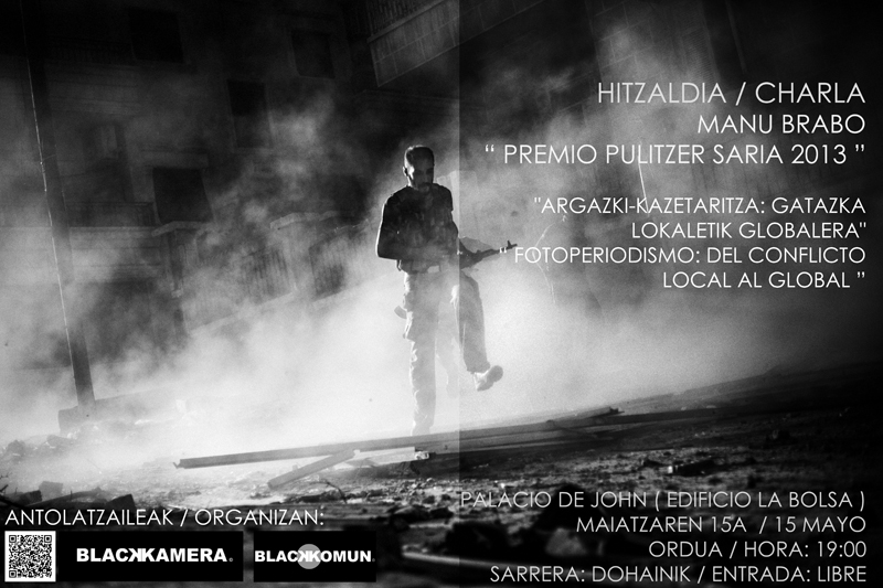 Hitzaldia/Charla de Manu Brabo en Bilbao