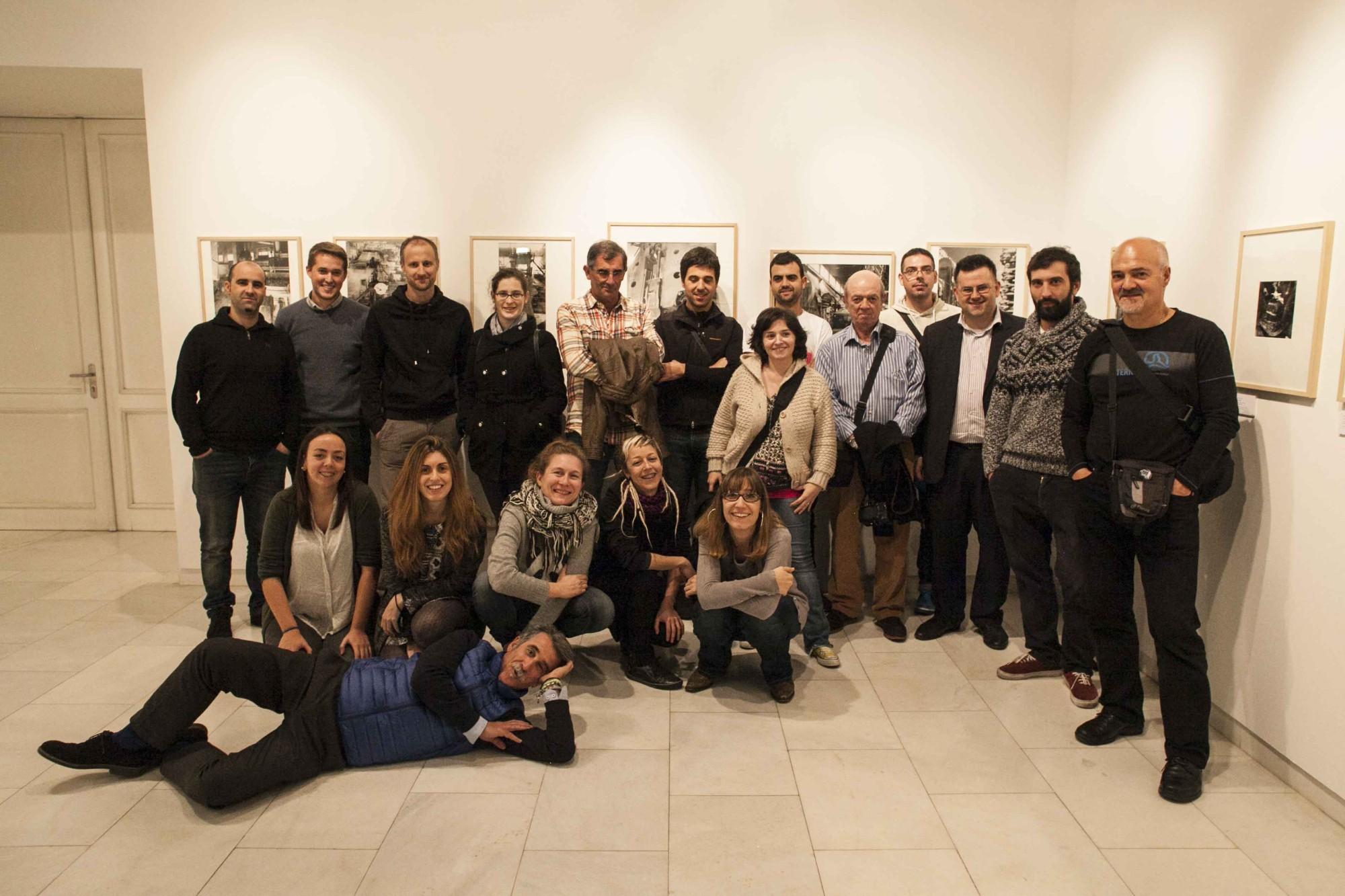 Visita del Curso Avanzado de Blackkamera al Photomuseum de Zarautz