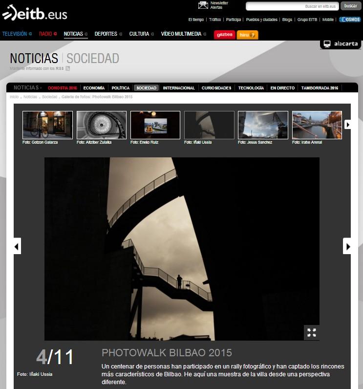 Blackkamera Photowalk Bilbao en Eitb.