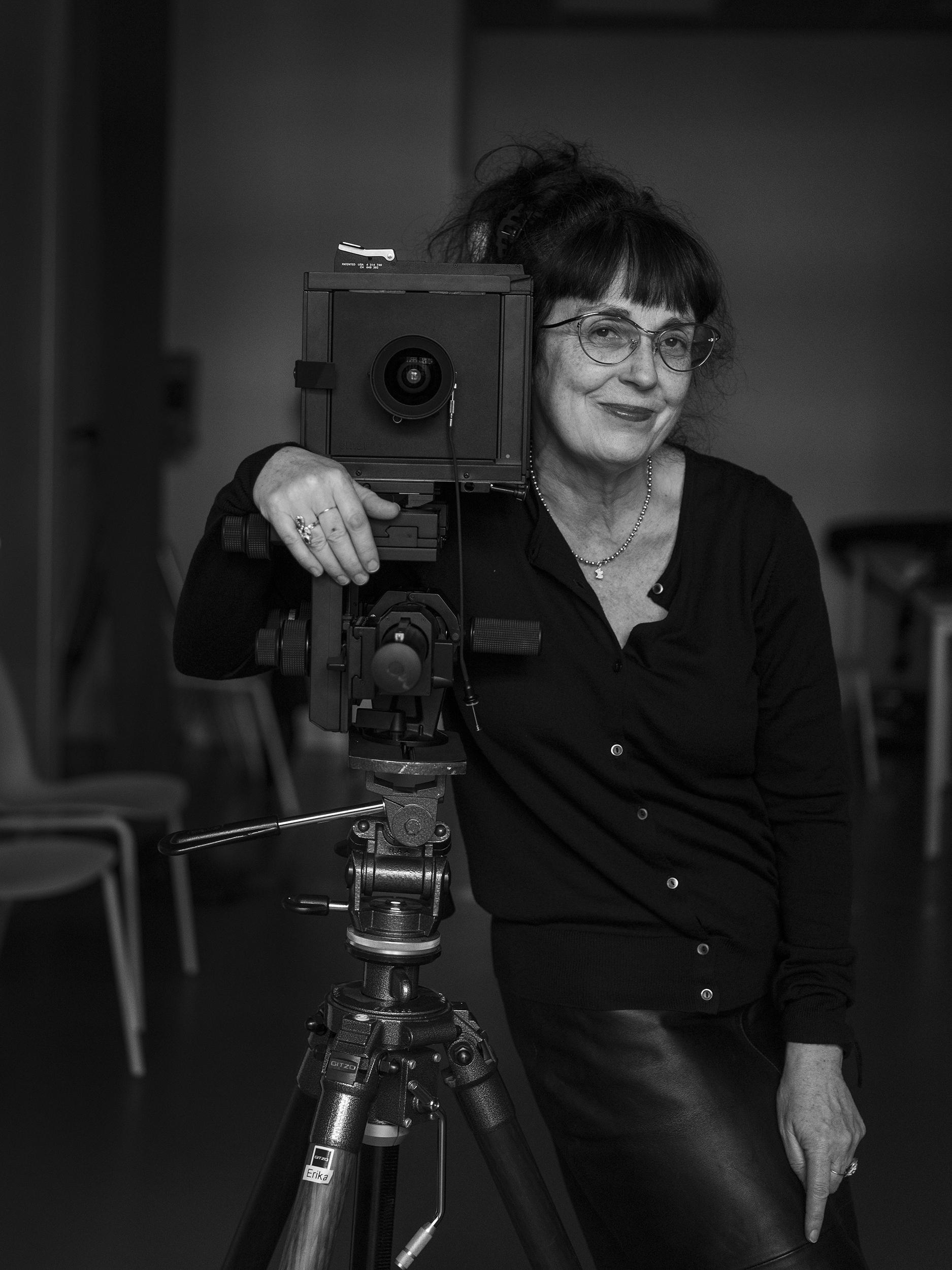 La profesora de Blackkamera Erika Ede en Hamaiketako de Getxophoto 2021.