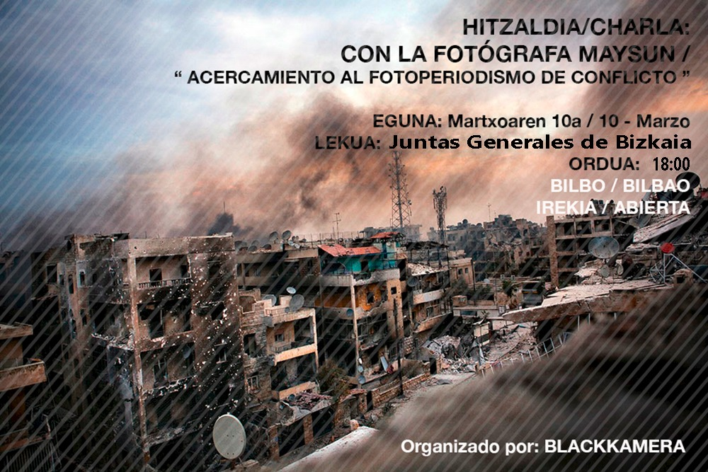 Hitzaldia / Charla con Maysun en Bilbao