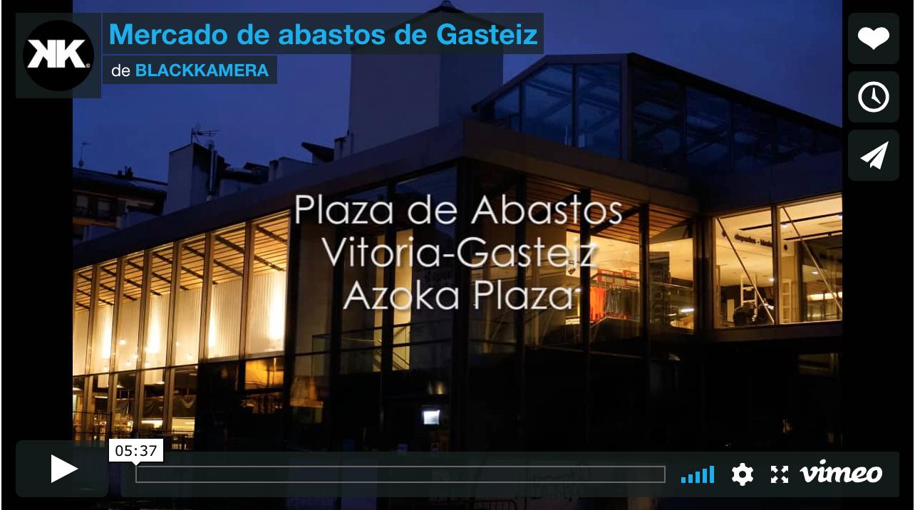 Mercado de la Plaza de Abastos de Gasteiz.