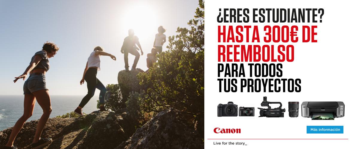 Descuentos en productos Canon para estudiantes