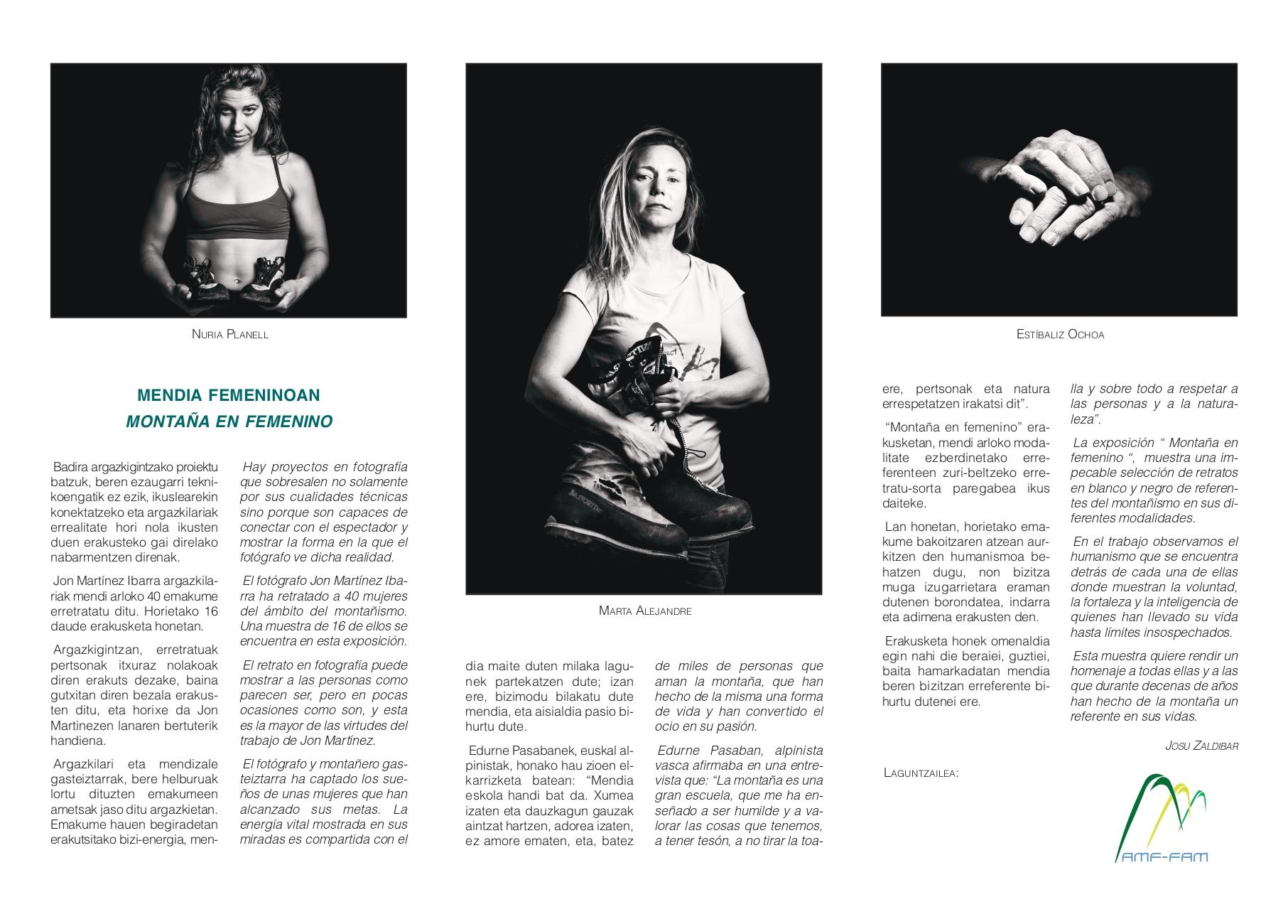"""""""Montaña en femenino"""" con Jon Martínez en el Photomuseum."""