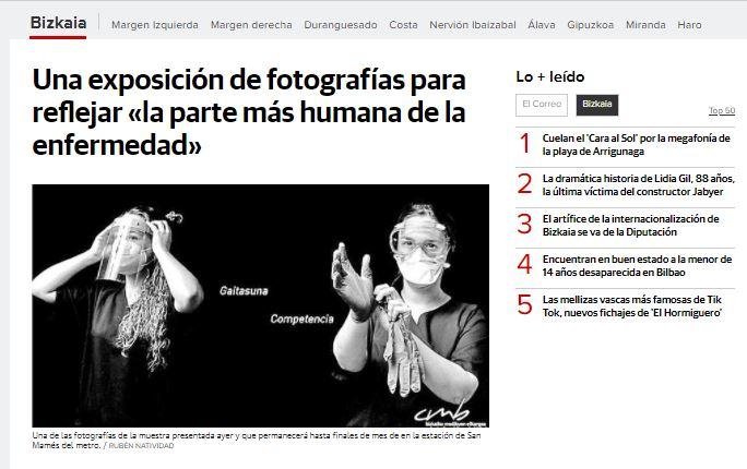 """Repercusión en los medios de la exposición """"COVID-19: una mirada desde dentro"""""""