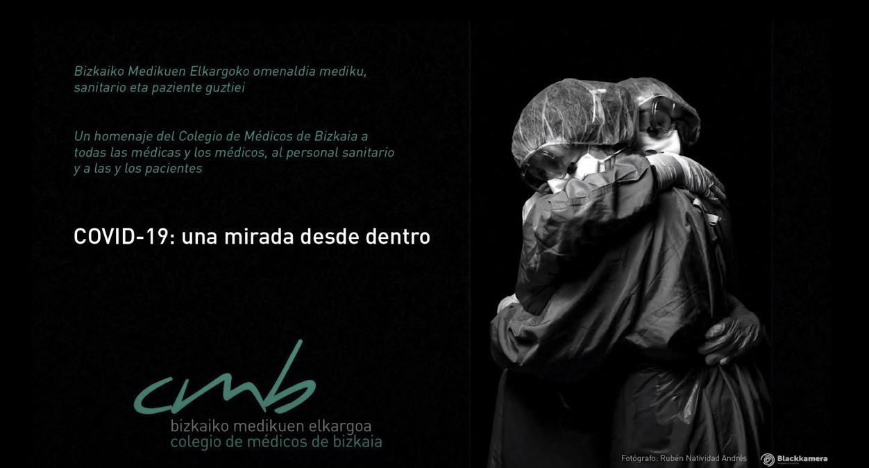 Exposición sobre el Covid, del alumno Ruben Natividad en MetroBilbao.