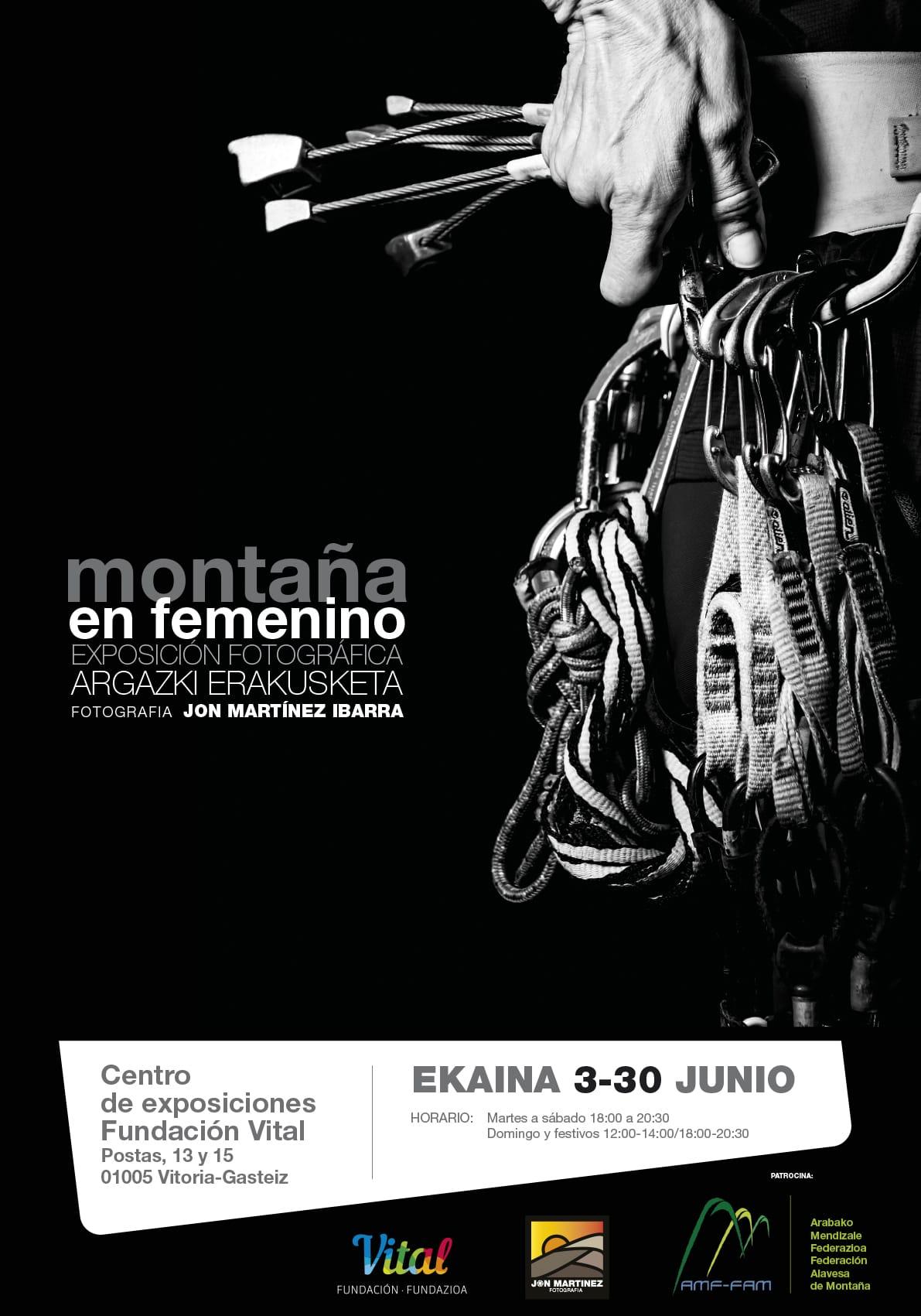 """Montaña en femenino"" con Jon Martínez en Fundación Vital Kutxa."